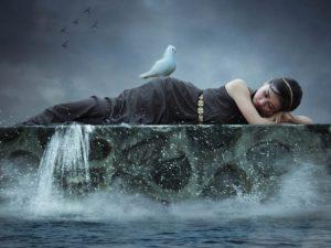 Baia purificatoare, apa care spală în planul psihic